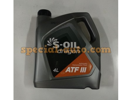 Масло трансмиссионное ATF  lll (S-OIL) 4 литра
