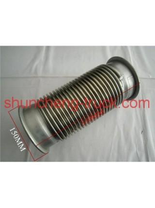 Гофра на выхлопную трубу 315 х 150 (два фланца круглых) Shaanxi F2000