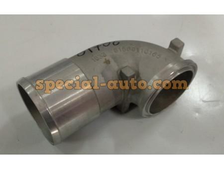 Патрубок (алюминиевый) на турбокомпрессор HOWO 0165
