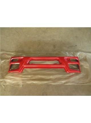 Бампер HOWO 2010  металлический красный (Хорошее качество)