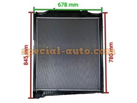 Радиатор охлаждения алюминиевый (бачки алюминь) SHAANXI 0268/9268
