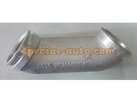 Патрубок (алюминиевый) на турбокомпрессор HOWO 1141