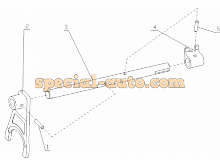 Вилка переключения 1-й и 2-й передачи КПП HW15710/19710