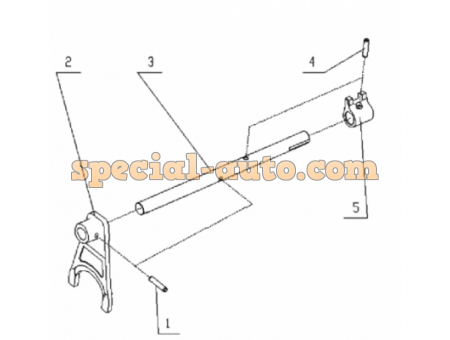 Вилка переключения заднего хода и пониженной передачи КПП HW18709