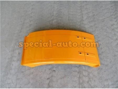 Брызговик SHAANXI F2000 переднего колеса левый желтый