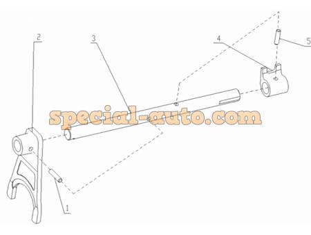 Вилка переключения 1-й и 2-й передачи КПП HW18709